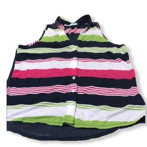 Maurice's Striped Sleeveless Blouse Size M